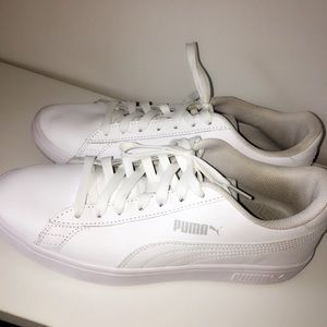 all white puma sneakers! ✨